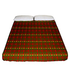 Fugly Christmas Xmas Pattern Fitted Sheet (king Size) by Nexatart