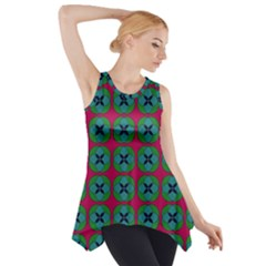 Geometric Patterns Side Drop Tank Tunic by Nexatart