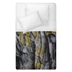 Grey Yellow Stone  Duvet Cover (single Size) by Nexatart