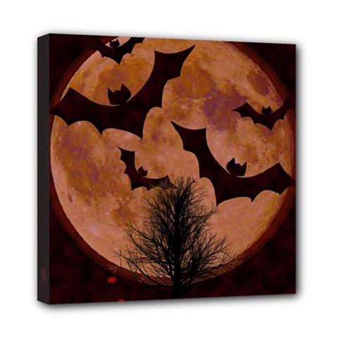 Halloween Card Scrapbook Page Mini Canvas 8  X 8  by Nexatart