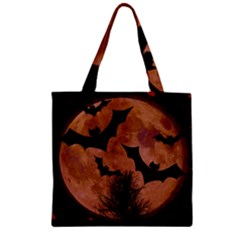 Halloween Card Scrapbook Page Zipper Grocery Tote Bag by Nexatart