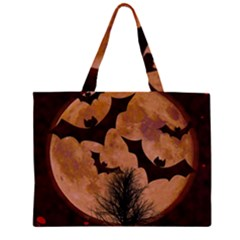Halloween Card Scrapbook Page Zipper Large Tote Bag by Nexatart