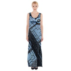 Grid Maths Geometry Design Pattern Maxi Thigh Split Dress by Nexatart