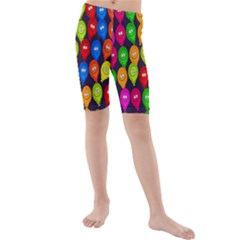 Happy Balloons Kids  Mid Length Swim Shorts by Nexatart