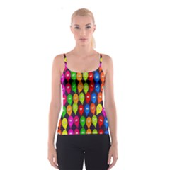 Happy Balloons Spaghetti Strap Top by Nexatart