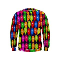 Happy Balloons Kids  Sweatshirt by Nexatart