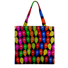 Happy Balloons Zipper Grocery Tote Bag by Nexatart