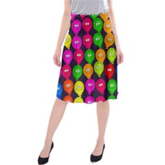 Happy Balloons Midi Beach Skirt by Nexatart