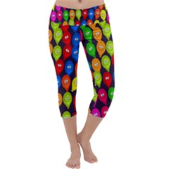 Happy Balloons Capri Yoga Leggings by Nexatart