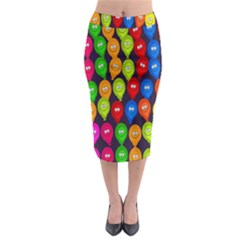 Happy Balloons Midi Pencil Skirt by Nexatart