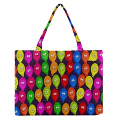 Happy Balloons Medium Zipper Tote Bag by Nexatart