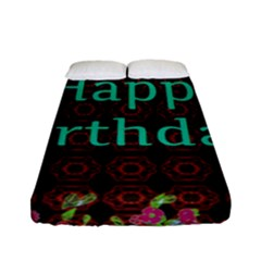 Happy Birthday! Fitted Sheet (full/ Double Size) by Nexatart