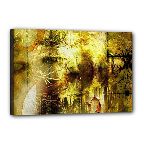 Grunge Texture Retro Design Canvas 18  X 12  by Nexatart