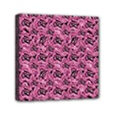 Floral Pink Collage Pattern Mini Canvas 6  x 6  View1