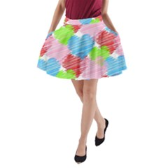 Holidays Occasions Valentine A Line Pocket Skirt
