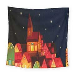 Market Christmas Light Square Tapestry (large) by Nexatart