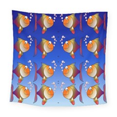 Illustration Fish Pattern Square Tapestry (large) by Nexatart