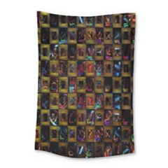 Kaleidoscope Pattern Abstract Art Small Tapestry