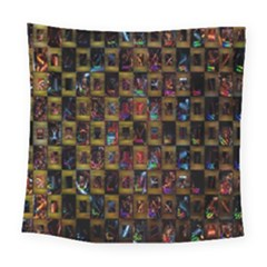 Kaleidoscope Pattern Abstract Art Square Tapestry (large) by Nexatart