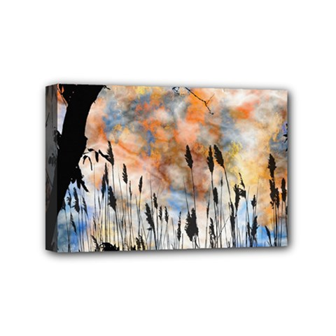 Landscape Sunset Sky Summer Mini Canvas 6  X 4  by Nexatart