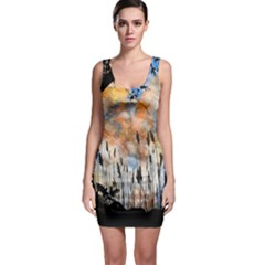 Landscape Sunset Sky Summer Sleeveless Bodycon Dress by Nexatart
