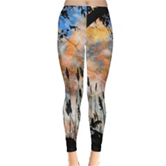 Landscape Sunset Sky Summer Leggings  by Nexatart