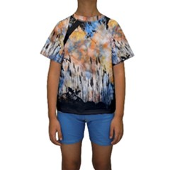 Landscape Sunset Sky Summer Kids  Short Sleeve Swimwear by Nexatart
