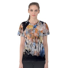 Landscape Sunset Sky Summer Women s Cotton Tee by Nexatart