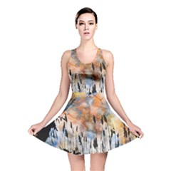 Landscape Sunset Sky Summer Reversible Skater Dress by Nexatart
