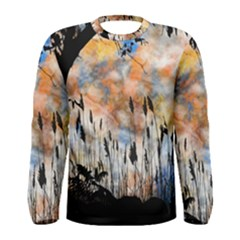 Landscape Sunset Sky Summer Men s Long Sleeve Tee by Nexatart