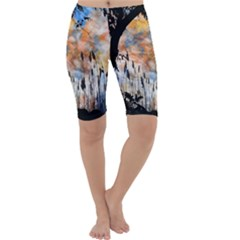 Landscape Sunset Sky Summer Cropped Leggings  by Nexatart