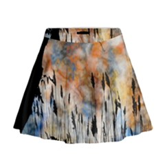 Landscape Sunset Sky Summer Mini Flare Skirt by Nexatart