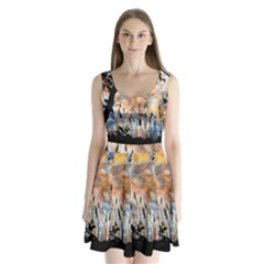 Landscape Sunset Sky Summer Split Back Mini Dress  by Nexatart