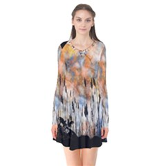 Landscape Sunset Sky Summer Flare Dress by Nexatart