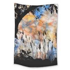 Landscape Sunset Sky Summer Large Tapestry by Nexatart