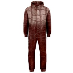 Leather Snake Skin Texture Hooded Jumpsuit (men)  by Nexatart