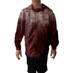 Leather Snake Skin Texture Hooded Wind Breaker (kids) by Nexatart