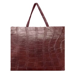 Leather Snake Skin Texture Zipper Large Tote Bag