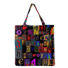 Letters A Abc Alphabet Literacy Grocery Tote Bag by Nexatart