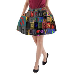 Letters A Abc Alphabet Literacy A Line Pocket Skirt