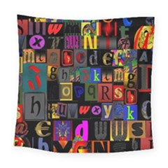 Letters A Abc Alphabet Literacy Square Tapestry (large)