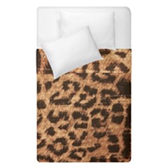 Leopard Print Animal Print Backdrop Duvet Cover Double Side (single Size) by Nexatart