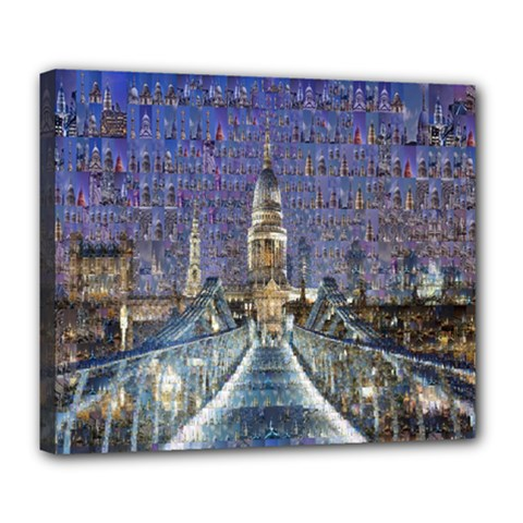 London Travel Deluxe Canvas 24  X 20   by Nexatart