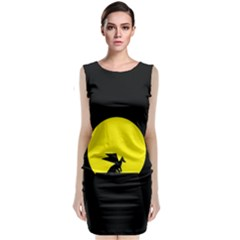 Moon And Dragon Dragon Sky Dragon Classic Sleeveless Midi Dress by Nexatart