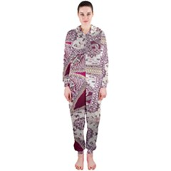 Morocco Motif Pattern Travel Hooded Jumpsuit (ladies)  by Nexatart