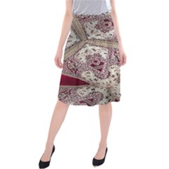 Morocco Motif Pattern Travel Midi Beach Skirt by Nexatart