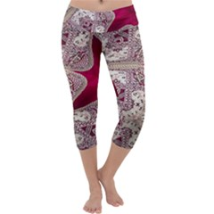 Morocco Motif Pattern Travel Capri Yoga Leggings by Nexatart