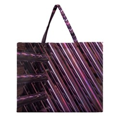 Metal Tube Chair Stack Stacked Zipper Large Tote Bag by Nexatart