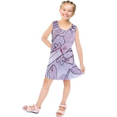 Newspaper Patterns Cutting Up Fabric Kids  Tunic Dress by Nexatart