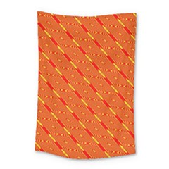 Orange Pattern Background Small Tapestry by Nexatart